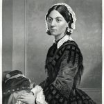Engraving From 1873 Featuring The English Reformer And The Founder Of Modern Nursing, Florence Nightingale.  Nightingale Lived From 1820 Until 1910.